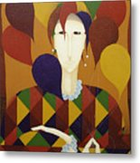Harlequin With Balloons  2006 Metal Print