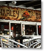 Harley Beach Bar Metal Print by Jasna Buncic