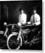 William Harley And Arthur Davidson, 1914 -- The Founders Of Harley Davidson Motorcycles Metal Print