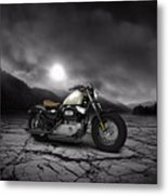 Harley Davidson Sportster Forty Eight 2013 Mountains Metal Print