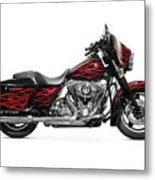 Harley-davidson Street Glide Motorcycle Metal Print