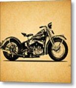Harley Davidson Ulh 1941 Metal Print