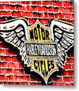 Harley Davidson Wings Metal Print