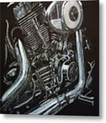 Harley Engine Metal Print