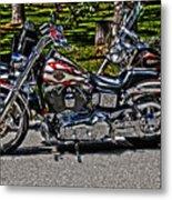 Harley In Hdr Metal Print