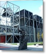 Harley Museum And Statue Metal Print