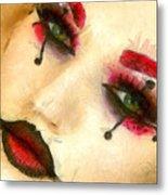 Harley Quinn Face - Da Metal Print