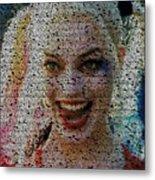 Harley Quinn Quotes Mosaic Metal Print