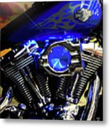 Harleys Twins Metal Print