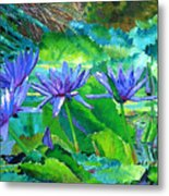 Harmony Of Purple And Green Metal Print