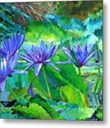 Harmony Of Purple And Green Metal Print