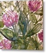 'harmony, Wisdom And Understanding From The Red Clover' Metal Print