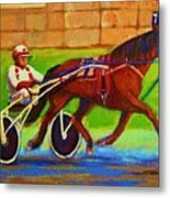 Harness Racing At Bluebonnets Metal Print