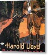 Harold Lloyd In Back To The Woods 1919 Metal Print