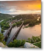Harpers Ferry National Historical Park Maryland Heights Sunset Metal Print
