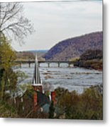 Harpers Ferry - Shenandoah Meets The Potomac Metal Print