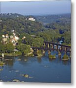 Harpers Ferry West Virginia From Above Metal Print by Brendan Reals