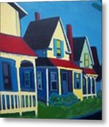 Harpswell Cottages Metal Print