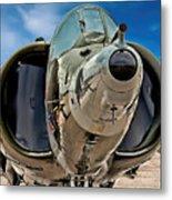 Harrier Ground Attack Jet Airplane Metal Print