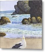 Harris Beach Metal Print
