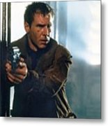 Harrison Ford As Rick Deckard A Blade Runner  In Blade Runner 1982 Metal Print