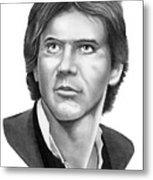 Harrison Ford - Hans Solo Metal Print