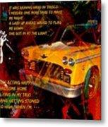 Harry Chapin Taxi Song Poster With Lyrics Metal Print