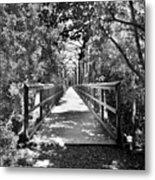 Harry Easterling Bridge Peak Sc Black And White Metal Print