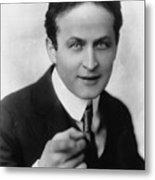 Harry Houdini Magician Metal Print