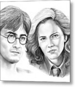 Harry Potter And Hermione Metal Print