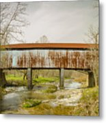 Harshaville Covered Bridge  Metal Print