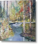 Hartman Creek Birches Metal Print