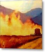 Harvest Time In Wyoming Metal Print
