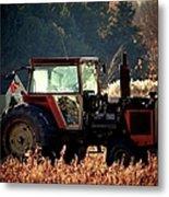 Harvesting The Fields  Metal Print