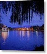 Harveston Lake At Night Metal Print