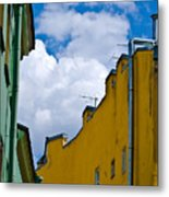 Has Opened Eyes And Has Looked In The City Sky... Metal Print
