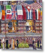 Hassam: Allied Flags, 1917 Metal Print