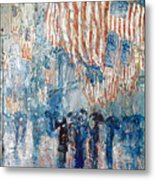 Hassam Avenue In The Rain Metal Print by Granger
