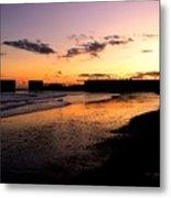 Hastings Harbour Arm At Sunset Metal Print