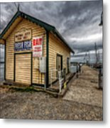 Hastings Jetty Metal Print
