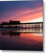 Hastings Pier - Purple Metal Print