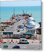 Hastings Pier Rebuild Metal Print