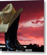 Hat N Boots 11 Metal Print