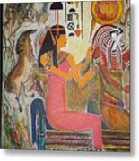Hathor And Horus Metal Print
