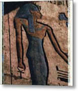 Hathor Holding The Ankh Sign Metal Print
