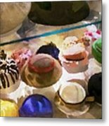 Hats In A Row Metal Print