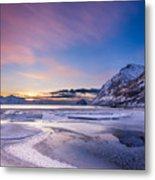 Haukland Sunset - Vertical Metal Print