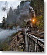 Hauling Though The Mountains Metal Print by Patrick  Flynn
