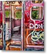 Haunted Graffiti Art Bus Metal Print