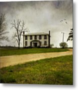 Haunted House On A Hill Metal Print